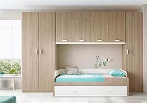 Chambre Pour Ado : chambre pour ado ultra compacte avec lit gigogne glicerio so nuit ~ Farleysfitness.com Idées de Décoration