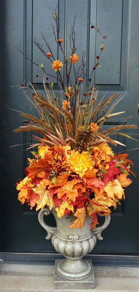 fall urn ideas  front porch decorating  fall
