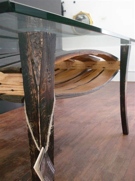 Custom Salvaged Wine Barrel Stave Table by M.SAW/ Shober