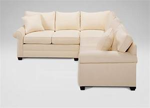 Popular ethan allen sectional sofa 67 in reclining for Sectional sofas in small spaces