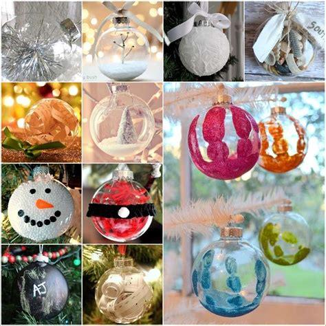 15 creative clear ball christmas ornament ideas