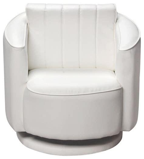 gift home white upholstered swivel chair