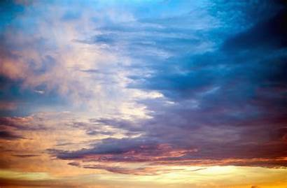 Cielo Langit Alam Anochecer Pintado Naturaleza Papel