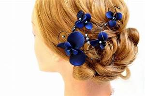Navy Blue Fascinator Bridesmaids Navy Head Piece Wedding