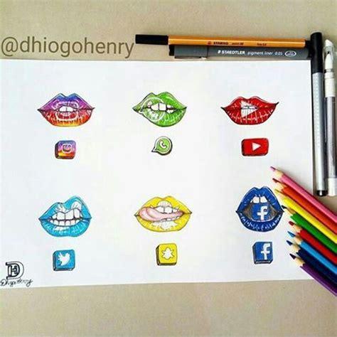 social media drawing lips art ideen fuers zeichnen