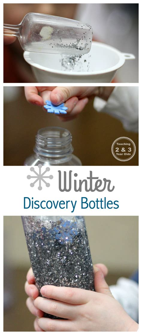 easy winter discovery bottles 261 | Winter discovery bottle Teaching 2 and 3 Year Olds