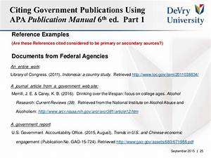 best solutions of how do i reference a government website With government documents apa