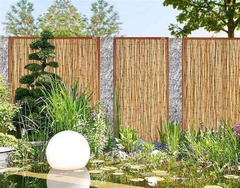 Bambus Bangkirai Sichtschutz Zaun Element Zen Garten
