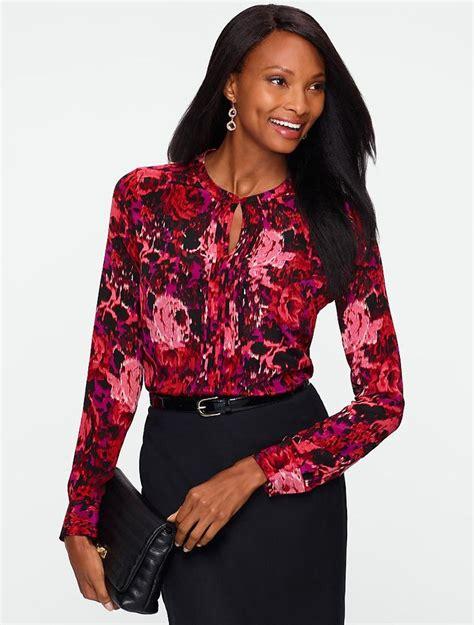 washable silk blouse talbots washable silk ikat pintuck blouse blouses