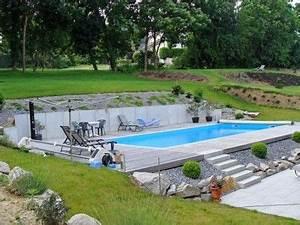 piscine enterree sur terrain en pente piscine With terrasse piscine semi enterree 2 piscine exterieur 90 photos et idees inspirantes
