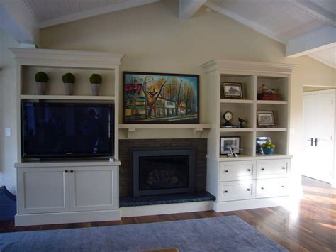 built in wall unit Living Room Transitional with area rug