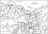 Rushmore sketch template