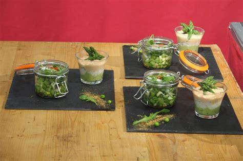 concours cuisine une verrine crabe avocat et asperges avec sa salade