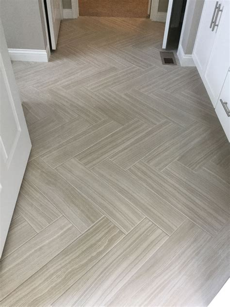 herringbone tile floor kitchen santino bianco 6x24 tiles in herringbone pattern on floor 4178