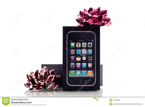 apple iphone christmas gift editorial image image 17030340