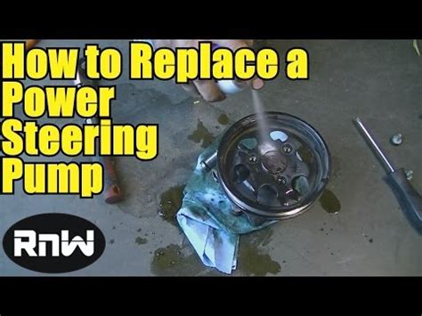 How To Remove And Replace A Power Steering Pump Youtube