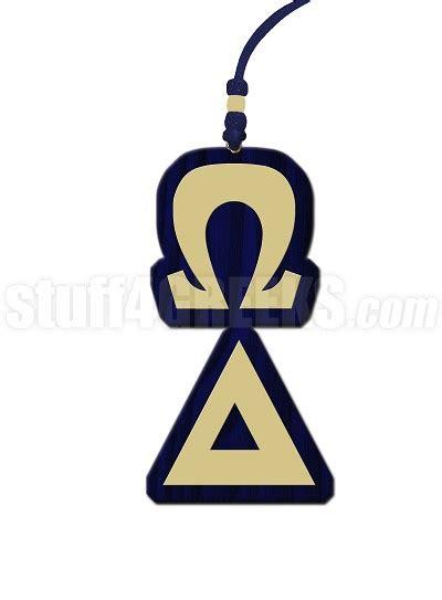 letter before omega omega delta letter tiki necklace 27787