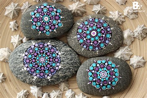 mandala steine bemalen mandala steine galerie buntwerkstatt at