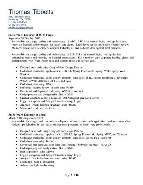 Resume Ca Java Server Framework by Developer Resume 3 4 20150713