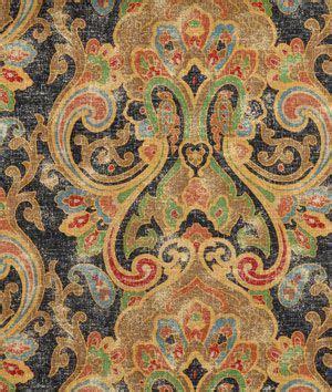 Ralph Upholstery Fabric by Ralph Dovima Linen Paisley Onyx Fabric