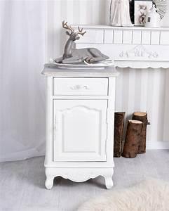 Nachttisch Schrank Weiß : nachtschrank shabby chic nachttisch schrank weiss nachtkommode ebay ~ Indierocktalk.com Haus und Dekorationen