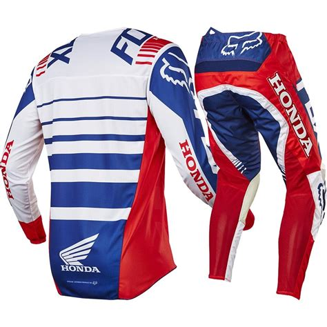 motocross jerseys and pants fox racing 2017 mx new 180 honda red white blue jersey