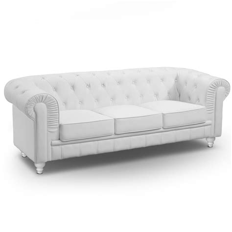 canapé chesterfield canapé 3 places chesterfield blanc