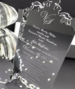 silver mirror acrylic wedding invitation perspex With acrylic wedding invitations diy