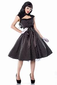 Retro Stil : rockabilly kleid gepunktet in schwarz vintage kleider ~ Pilothousefishingboats.com Haus und Dekorationen