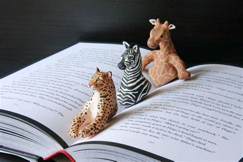 giraffe book page holder  clay bookmark art  cut
