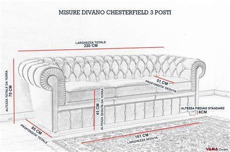 Dimensioni Divano 3 Posti Standard : Divano Chesterfield 3 Posti