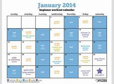 January Beginner Workout Calendar Kickstart Your Healthy