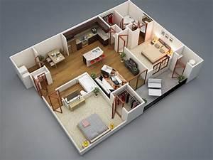 Planos de apartamentos en 3D, diseños modernos