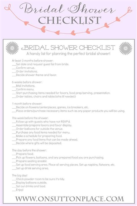 Here are some other considerations as you plan a shower: SouthBound Guide: How to Plan the Perfect Bridal Shower ...