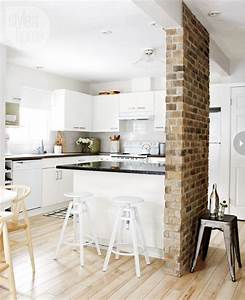Traditional kitchen with brick walls ideas modern