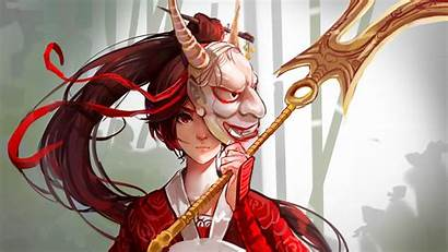 Mask Oni League Legends Akali