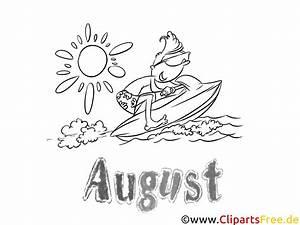 August Monatsbilder Ausmalbilder