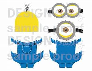 5 printable images minion inspired diy printable instant With minion overall template