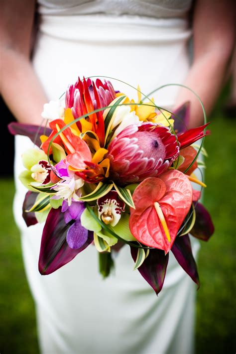 tropical bouquet makena maui mauiwedding tropical