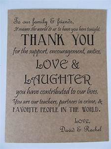 Thank you quotes for wedding favors quotesgram for Thanks for wedding invitation quotes