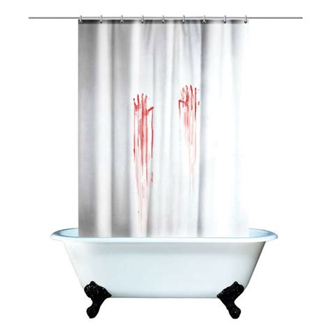 creepy shower curtain bloody shower curtain creepy bloody horror crime