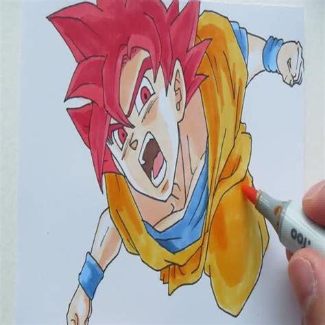 Desenhar Goku Deus Super Saiyajin