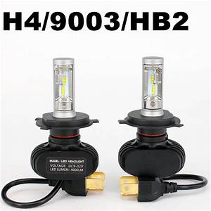 2x 50w 8000lm Led Headlight Kit H4 Hb2 9003 Hi  Lo Beam 6000k White Bulbs