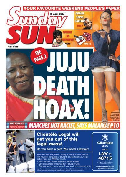 Sunday Sun South Africa April 16 2017 PDF download free