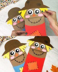 simple brown paper bag scarecrows   fun  easy