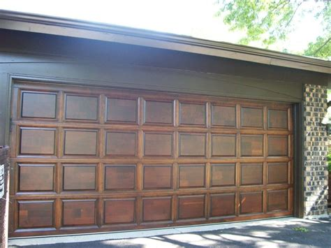 wood garage door refinishing contemporary shed
