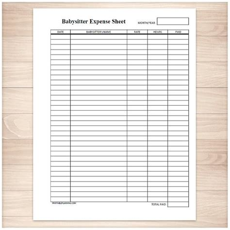 expense sheet printable expense sheet monthly or