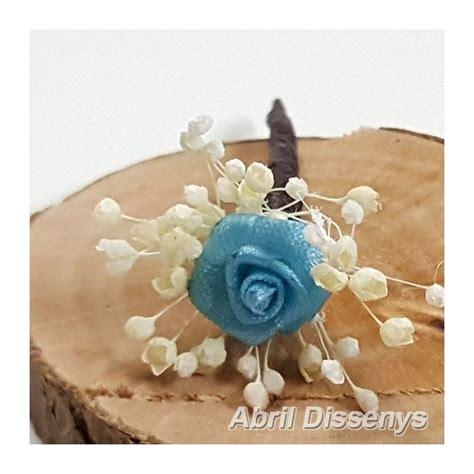 Flor Turquesa Pequena Flor En Pin Para El Pelo Peinados