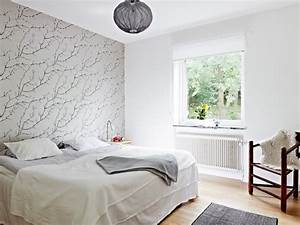 Tapeten Modern Schlafzimmer : tapeten im schlafzimmer 26 wohnideen f r akzentwand ~ Markanthonyermac.com Haus und Dekorationen