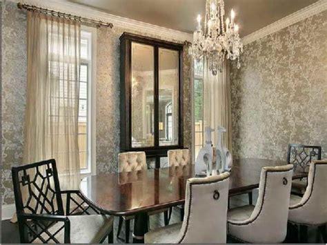 beautiful dining room wallpaper  decoration idea